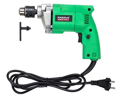 KHADIJA Powerful Simple Electric Drill Machine 10mm With Free 13Pcs HSS Drill Bits & 1Pc Masonary Bit Combo 2