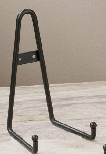 Black Round Tip Display Rack Plate Book Art Wall Holder ()