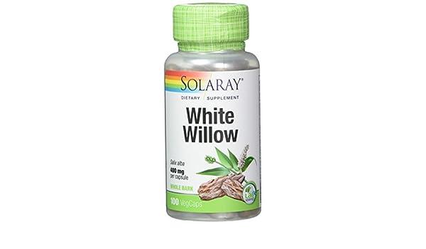 Sauce White Willow Bark 100Capsulas Solaray: Amazon.es: Salud y cuidado personal