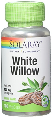 Solaray White Willow Bark 400mg | Scientifically Studied Herb | May Help Support Healthy Physical & Psychological Stress Response | Non-GMO | 100ct