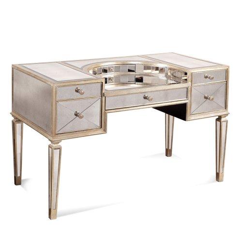 Bassett Mirror Company Borghese Ladies Writing Desk, Antique Mirror by Bassett Mirror Company