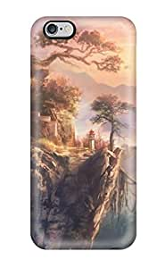 Hot BYkslKT3888lOzIY Case Cover Protector For Iphone 6 Plus- Towns On The Floating Rocks