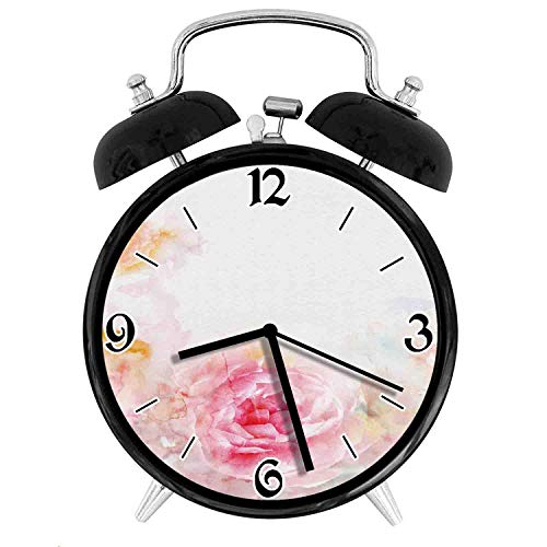 one-six-one Nature Garden Romantic Victorian Flowers Roses LeavesDesk Clock Home Office Unique Decorative Alarm Ring Clock 4in