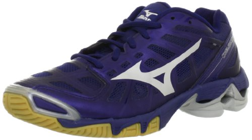 Mizuno Women's Wave Lightning RX2 Volleyball Shoe,Navy/Silver,11 B US ()