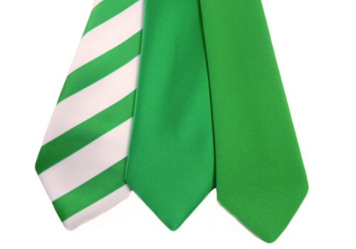 980f646d7800 St Patrick's Day Emerald Green Regular & Skinny Ties (Matt Finish Skinny Tie  (Pointed