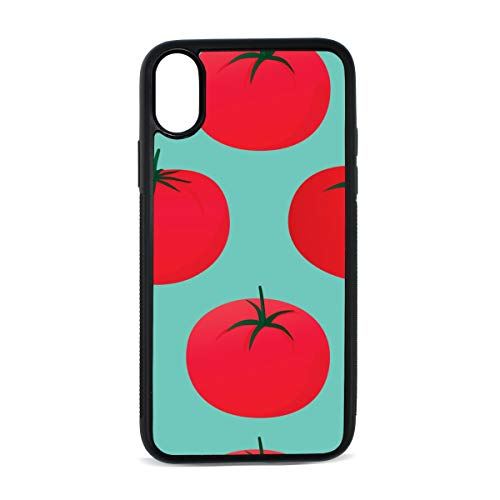 Case for iPhone Tomato Vegetable Red Design Ideas Digital Print TPU Pc Pearl Plate Cover Phone Hard Case Cell Phone Accessories Compatible with Protective Apple Iphonex/xs Case 5.8 -