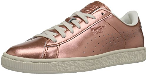 PUMA Women's Basket Classic Citi Metallic Wn's Fashion Sneaker, Copper-Whisper White, 6.5...