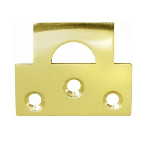 Plate Universal Strike (Deltana 178UST Solid Brass Universal Strike Plate, Polished Brass)