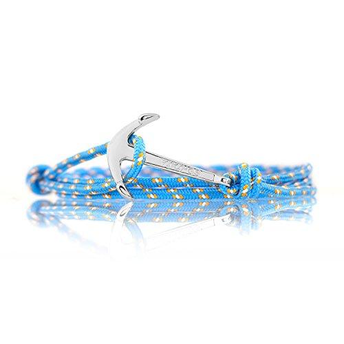 Vikings Wrap Bracelet Bleu Ancre Argent