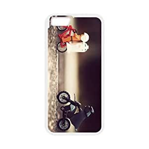 bike chase iphone 6s 4.7 Inch Cell Phone Case White 53Go-023333