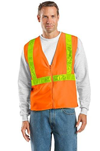 (Port Authority Men's Enhanced Visibility Vest L/XL Safety Orange/Reflective)