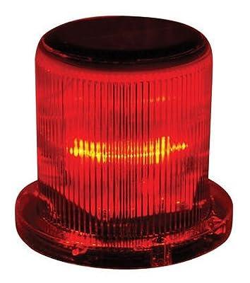 Solar Warning Light - Waterproof Solar Dock Lighting - RED LEDs - Continuous or Flashing 360 Degree Lighting