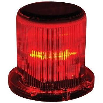 Solar Warning Light Waterproof Solar Dock Lighting Red