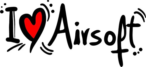 I Love Airsoft Set of 2 Home Decal Vinyl Sticker 14'' X 6'' by innagrom