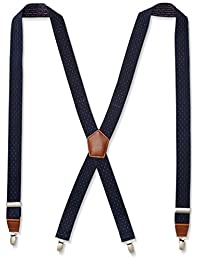 Dockers Men's 1.25 Inch Dobby X-Back Poly Stretch Suspender