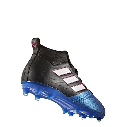 adidas Kid 's Ace 17,1 FG – Zapatillas de fútbol Core Black-white-blue