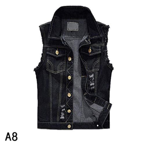 Cowboy Lavato Uomo Gilet Giacca Giacche Moda Strappato Senza Adelina Denim Abbigliamento 3 Casual Jeans Vest Da Nner Maniche Vintage O0fBwq5