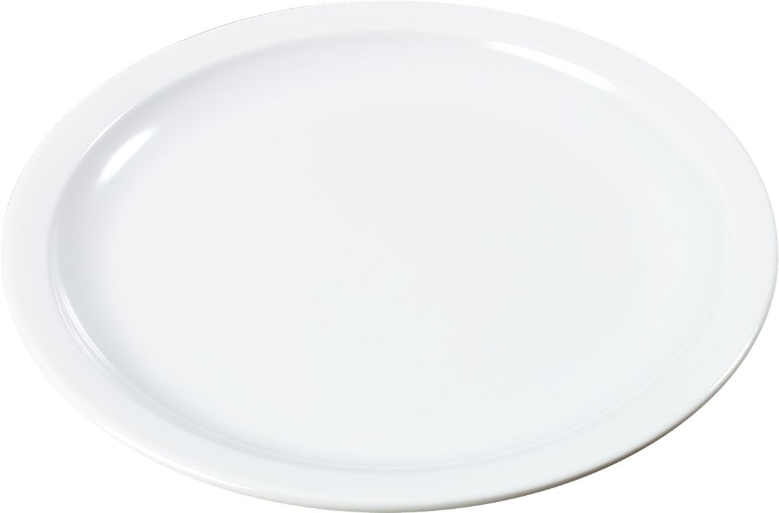 Carlisle KL20102 Kingline Melamine Sandwich Plate, 7-7/32'' Diameter x 0.74'' Height, White (Case of 48)