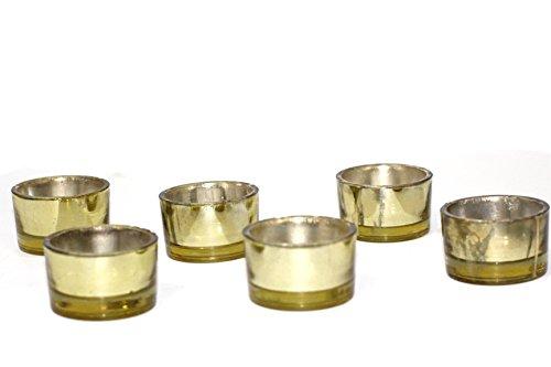 Tea Light Candle Holder - Pack of 24 (Gold Tealight Holders)