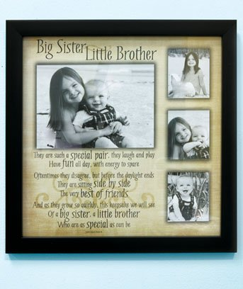 Amazon.com - Sibling Collage Frame Big Sister/Little Brother ...