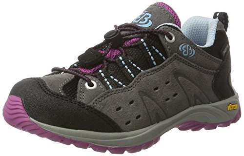 Brutting 421042 grau/lila/blau Outdoorschuh für Kinder und Jugendliche mit Schnellschnürsystem Grau (grau/lila/blau)