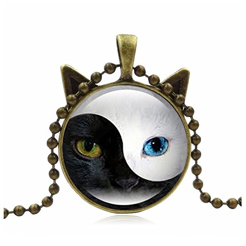 Lovers Lane Cat Costume - Woman Fashion Jewelry Retro Cute Cat Pendent Necklace for Lover Gift?Gold?