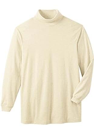 Kingsize Men's Big & Tall Turtleneck Long-Sleeve Cotton Shirt, Heather Oatmeal