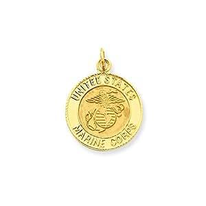 14ct 23,2 x 17,5 mm marina Insignia colgante de disco - medidas 23,2 x mm 17,5 - JewelryWeb
