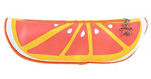 Lukis Kinder Stiftemappe Federmäppchen Federtasche Frucht-Muster Kosmetikbeutel 21x6.5cm Obst-6 Orangen ceYfU1