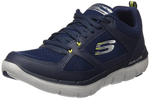 Skechers Flex Advantage 2.0 Lindman Hombres Sneakers Navy / Lime 11