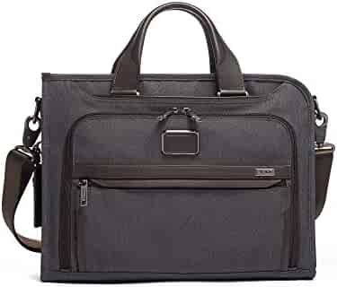 TUMI - Alpha 3 Slim Deluxe Portfolio Bag - Organizer Briefcase for Men and Women - Anthracite