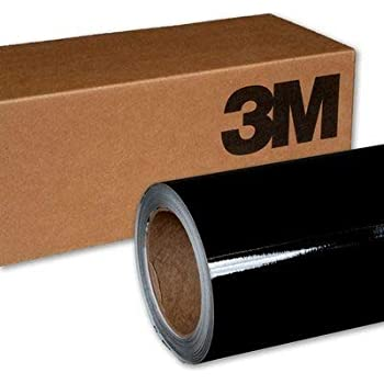 3M 2080 G12 Gloss Black 3in x 5in (Sample Size) Car Wrap Vinyl Film