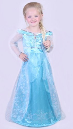 Elsa Costume Disneyland Paris (Disneyland Paris Elsa Frozen Deluxe Costume Dress up Girls Size 10 Years)