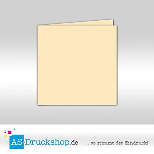 Faltkarte - - - Elfenbein - Samt satiniert 50 Stück Quadratisch 155 x 155 mm B079PZWH9Y | Online Store  35ca20