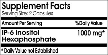 Inositol Hexaphosphate 1000mg // 100 Capsules // Pure // by PureControl Supplements