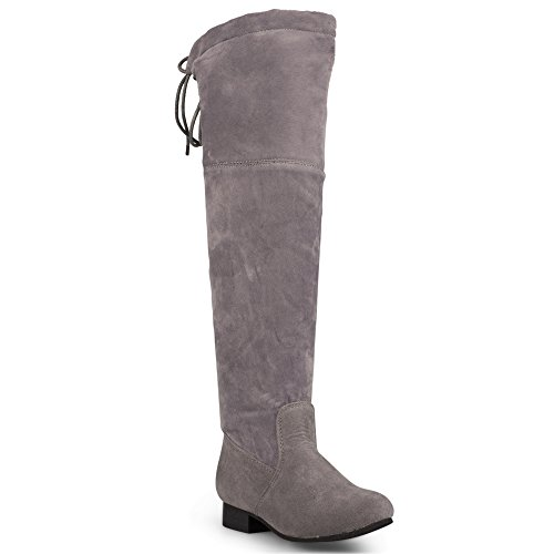 Girls Faux Suede Boots (Chillipop Knee Boots For Girls and Juniors, Faux Suede Fashion Boot)