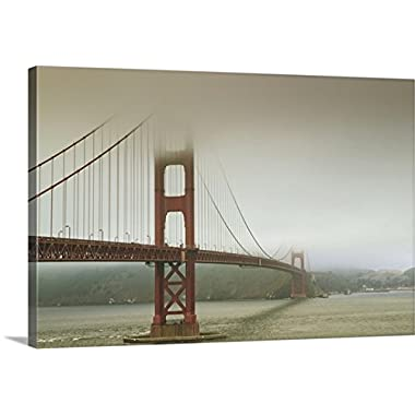 Premium Thick-Wrap Canvas Wall Art Print entitled Golden Gate Bridge in the fog, San Francisco, California