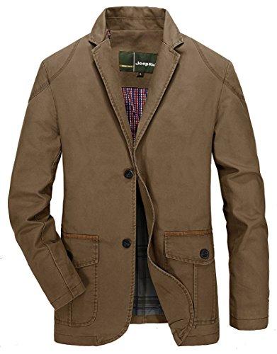 Extérieur armée poches Multi Hommes Dhyzz Coton Automne 2 Manteau Costume Veste Verte Printemps Militaire Léger Blazer Classique qIw8Z