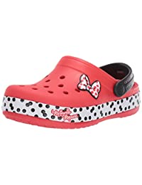 crocs Kids 'Boys and Girls Disney Minnie Mouse Dots Zuecos
