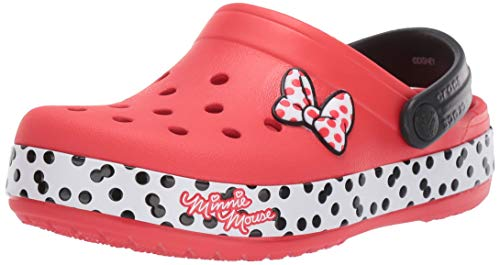 Crocs Kids' Fun Lab Minnie Dots Clog, Flame, 9 M US Toddler]()