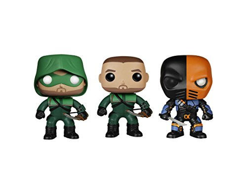 "Funko Arrow POP! TV Vinyl Collectors Set: Oliver Queen ""The Green Arrow"" & Deathstroke Action Figure"