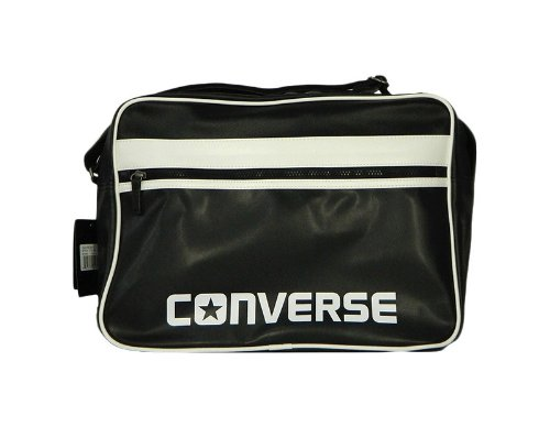 dd123581df Converse SV Reporter Bag Unisex Faux Leather Bag - Black  Amazon.co.uk   Shoes   Bags