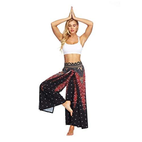 décontracté yoga Aladdin imprimé pour Rouge Boho Body Baggy Sarouel de Taille femmes M Pantalon Zhrui lâche Couleur RpPqwpz5