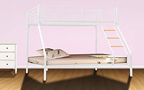 Brand Triple Sleeper Bunk Bed Metal Single Double Triple 3 Children's Bunk Bed– (White)