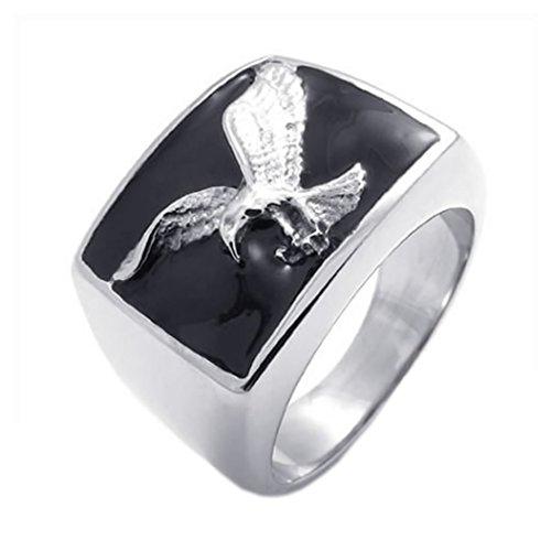 KONOV Stainless Steel Eagle Silver
