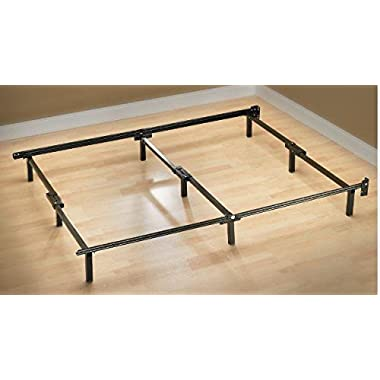 Zinus Compack Adjustable Steel Bed Frame, for Box Spring & Mattress Set, Twin/Full/Queen