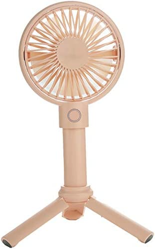 Mini Handheld Fan, Adjustable 3 Speeds Mini Fan, Portable Outdoor Electric Fan, USB Rechargeable Suitable for Home, Office and Travel Pink