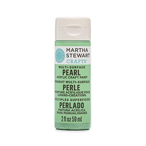 Martha Stewart Crafts Multi-Surface Pearl Acrylic Craft Paint in Assorted Colors (2-Ounce), 32124 Mint Chip (Best Mint Green Paint)