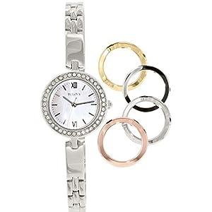 Bulova Womens 98X107XG Quartz Silver-Tone Watch (Renewed)