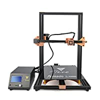 TEVO Tornado 3D Printer, 2018 Newest Model 95% Assembled with Full Aluminum Frame Larger Printing Size Upgraded Nozzle & Heatbed for PLA, ABS, TPU, Copper, Wood, and Flexible Filaments, 300x300x400mm